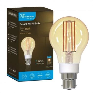 Bec LED alb cald dimabil, soclu B22