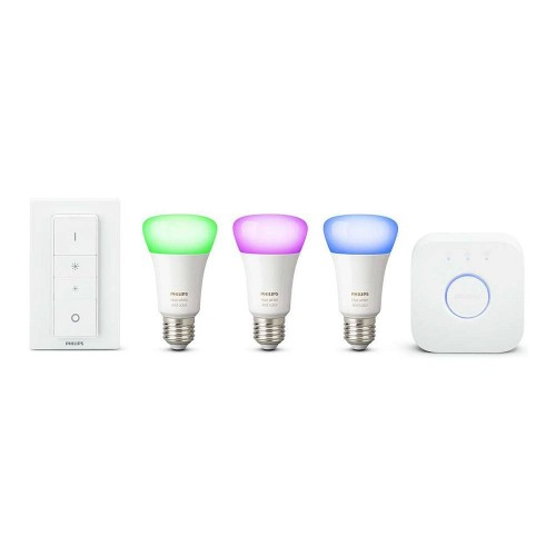 Becuri led inteligente Philips HUE RGB Starter Kit solutii smart home