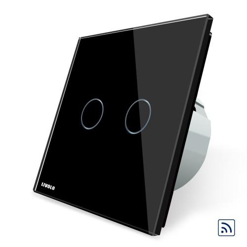 Intrerupator wireless smart Livolo, dublu, cu touch, din sticla Livolo - 4