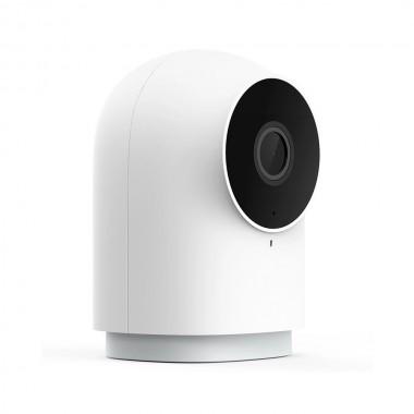 Camera Smart Xiaomi Aqara G2H, hub Zigbee 3.0 integrat, IR, AI, Full-HD 1080P, FOV 140°, compatibila Homekit, versiunea EU