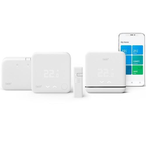 Tado Starter Kit V3+ Termostat Wireless smart pentru aer conditionat (AC) si centrala termica