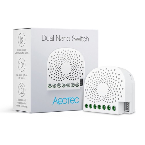 Releu inteligent Aeotec Dual Nano Switch ZW140